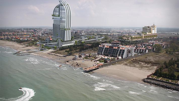 هتلی در ساحل دریای کاسپین