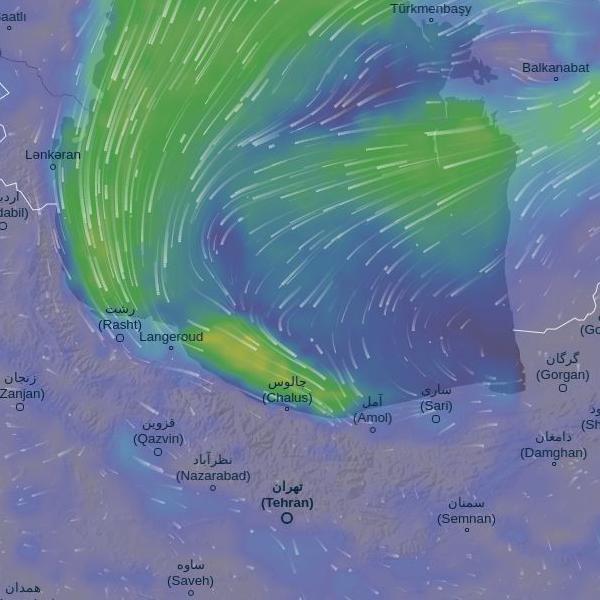 پروژه آخر هفته: ربات اینستاگرامی هواشناسی کاسپین نقشه بادهای کاسپین